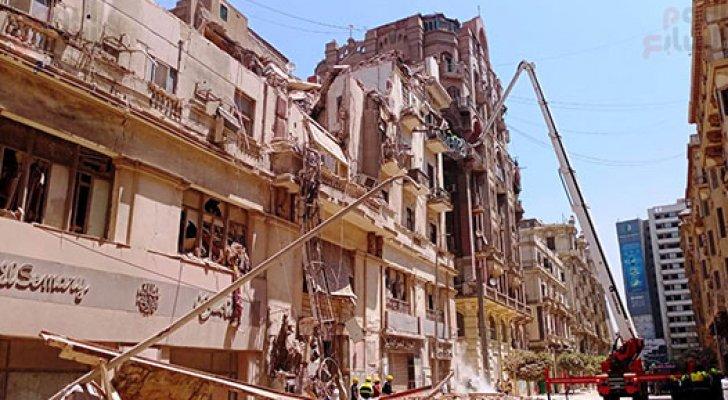 انهيار عقار وسط القاهرة..